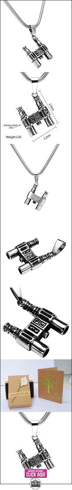 Daesar Joyería Collares de Hombre Acero Inoxidable Binoculars Plata Colgantes Vintage 2.2X2.4cm  ✿ Joyas para niños - Regalos ✿ ▬► Ver oferta: https://comprar.io/goto/B01MSNC4J2