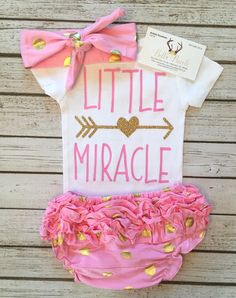 Little Miracle Baby Girl Bodysuit Little Miracle Shirts - BellaPiccoli