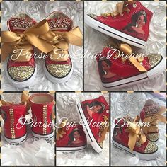 Elena of Avalor Themed Swarovski Crystal Designed Converse