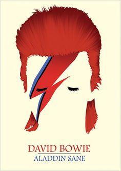 Alladin Sane, David Bowie.