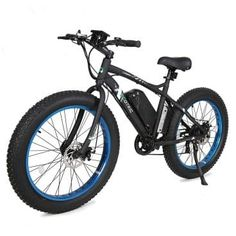 ECOTRIC Fat Tire Electric Bike Beach Snow Bicycle inch Fat Tire ebike Electric Mountain Bicycle with Shimano 7 Speeds Lithium Battery Black/Orange/Blue Mountain Bike Reviews, Electric Mountain Bike, Mountain Bicycle, Mountain Biking, Folding Electric Bike, Electric Bicycle, Buy Bike, Road Bike Women, Bikes For Sale