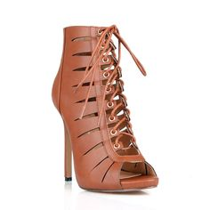 Fahrenheit Giselle-21 -up Cut out Women's Caged High Heel Sandal (-5.5)