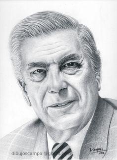 Vargas Llosa - Colección retratos a lápiz - Año 2012