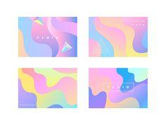 일러스트/컬러풀/백그라운드/추상/무늬/웨이브/디자인/삼각뿔/파란색/분홍색/노란색/보라색/사람없음/그러데이션/곡선/모던/배너/홀로그램/ Ice Tray