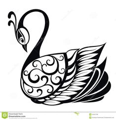 Swan clip art images and royalty free illustrations available to search from thousands of EPS vector clipart and stock art producers. Swan Pictures, Beads Pictures, Motif Design, Mandala Design, Schwan Tattoo, Swan Drawing, Mehndi Style, Poppies Tattoo, Black White Tattoos