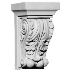 These corbels are truly unique in design and function. Primarily used in decorative applications urethane corbels can make a dramatic difference in kitchens, bathrooms, entryways, fireplace surrounds,