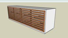 3D Model of Rack Wood Jequitibá