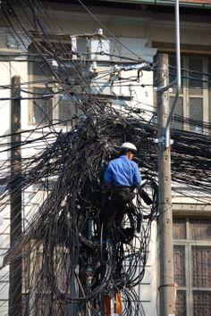 Telephone and Electricity system http://viaggivietnam.asiatica.com/