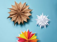 Do you have three minutes? That's literally all you'll need to make these stellar paper bag decorations.