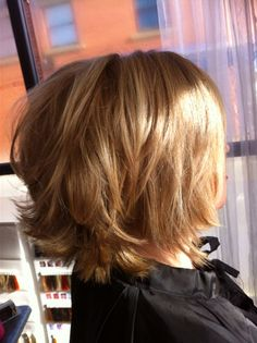 Caramel choppy bob by Tracey Guy