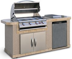 "84"" Outdoor Kitchen Islands 4-Burner Liquid Propane Gas Grill"