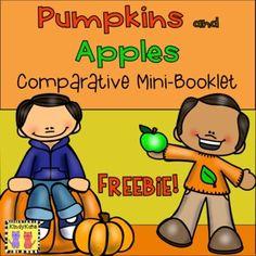 Pumpkins and Apples Comparative Mini-Booklet... by KindyKats | Teachers Pay Teachers
