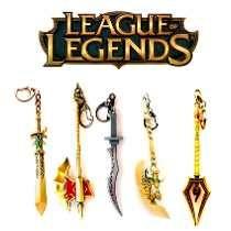 Llavero League Of Leguends Armas Campeones Champions Weapons