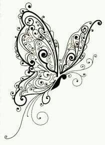 Stempel Inkadinkado - Schmetterling - Pretty Tattoos - DIY Garden Easy - Best Home Decor Ideas - DIY Hair Style - Fine Jewelry Henna Butterfly, Butterfly Design, Butterfly Sketch, Adult Coloring Pages, Coloring Books, Wood Burning Patterns, Quilling Patterns, Pretty Tattoos, Animal Tattoos