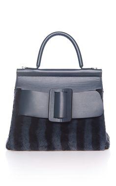 Striped Shearling Karl Bag by BOYY for Preorder on Moda Operandi Navy Shoulder Bags, Navy Blue Purse, Womens Purses, Navy Stripes, Handbags, Shoe Bag, My Style, Jewels, Lady