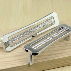 Glass Dresser Pulls Handles Drawer Pulls Handles Crystal Cabinet Handle  Pull Knob Diamante Silver Modern Kitchen