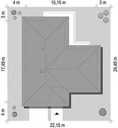 Projekt domu Parterowy 118,23 m2 - koszt budowy 184 tys. zł - EXTRADOM House Gate Design
