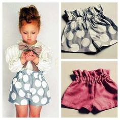 Paper bag toddler shorts.