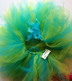 Teal, turquoise Lime, white childrens infant tutu size 3t toddler on Etsy, $35.00