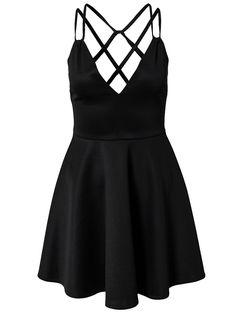 Backless Pleated Dress
