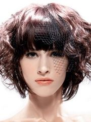 Tailored Specially Designed Amazing Short Wavy Wig 100% Human Hair about 8 Inches