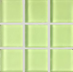 1X1 FROSTED GLASS MOSAIC GREEN APPLE - IMPORT TILE