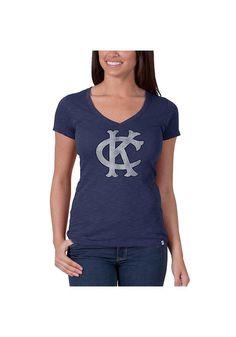 Kc Royals Blue V- Neck Scrum Tee