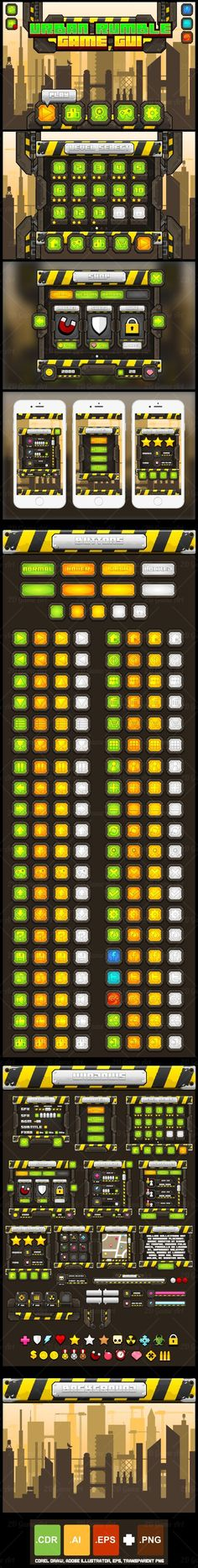 A complete set of graphical user interface (GUI) to build 2D video games…