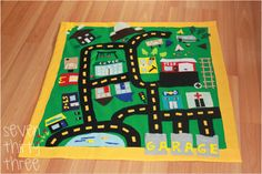 Felt car play mat no-sew