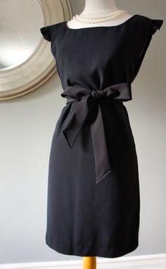 Audrey Hepburn Black Dress Womans Pullover Dress by PolitelyPink, $92.00