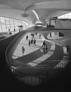 A new exhibit the Carnegie Museum of Art examines how Ezra Stoller captured the century's greatest architecture, from Eero Saarinen's TWA Terminal to Frank Lloyd Wright's Fallingwater. Eero Saarinen, Frank Lloyd Wright, Twa Flight Center, A As Architecture, Futuristic Architecture, Carnegie Museum Of Art, Louis Kahn, Modernisme, D House