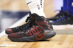 News Photo : The sneakers of Karl-Anthony Towns of the...