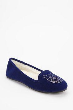 Embroidered Velvet Slipper Loafer