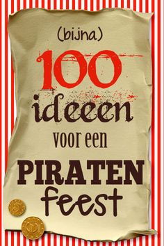 Piratenfeest: heel veel ideeën en inspiratie! - Feestprints #piraten #piraat Pirate Birthday, Pirate Theme, Diy Party, Party Gifts, Party Deco, Pirate Kids, Magic Crafts, Childrens Party, Animal Party