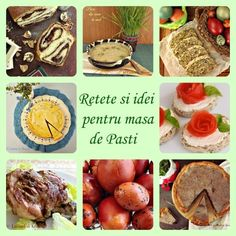 Retete si idei pentru masa de Pasti Hummus, Romanian Food, Easter Recipes, Sweet Treats, Deserts, Stuffed Mushrooms, Vegetables, Cooking, Childhood Memories