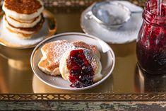 Tarkedli, a cseh fánk Pancakes, Dessert Recipes, Breakfast, Minden, Food, Breakfast Cafe, Pancake, Essen, Desert Recipes