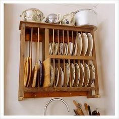 20 Spice Rack Ideas for Both Roomy and Cr&ed Kitchen & How to Build a Plate Rack | Pinterest | Plate racks Illustrations ...