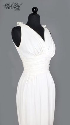 Vintage 50's Marilyn Monroe Style White Sexy Dress