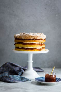 Hertzoggie Cake - South African Bakes - The Kate Tin