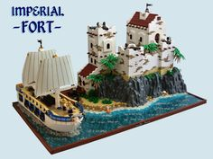 50 Lego Imperial Fort Ideas – How to build it Bateau Pirate Lego, Bateau Lego, Lego Pirate Ship, Lego Ship, Lego Boat, Lego Army, Lego Store, Lego Castle, Fantasy Castle