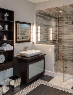 Dark Brown Modern Bathroom