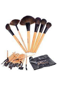 #ROMWE ROMWE | Professional 24 Piece Makeup Brush Set with Carrying Case, The Latest Street Fashion