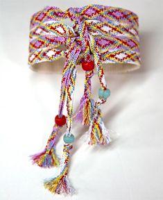 Friendship Cuff Bracelet -- easy version, no knotting!  Woven ribbon sewn to cotton webbing.