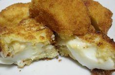 Recipe of eggs with bechamel, great dinner for children - Hard Boiled Eggs Bechamel Sauce, Boiled Eggs, Hard Boiled, Canapes, Egg Recipes, Deli, I Foods, Kids Meals, Appetizers