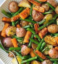Garlic Herb Roasted Vegetables   HealthShoot