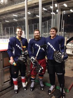 St. Ambrose Hockey 2014. (pictured: David Farley, Tyler Gannon, myself)