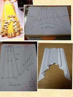 Pattern Making, Pattern Cutting, Blouse Designs, Dress Sewing Patterns, Clothing Patterns, Circle Skirt Pattern, Fashion Sewing, Sewing Hacks, Sewing Crafts - craftIdea