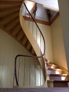wenteltrap trap traploper loper hoofdbaluster | herengracht | trappenspecialist jeroen helsloot utrecht