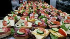 Sandwiches for a company - Foto di Haus . Sandwiches, Party Buffet, Snacks Für Party, Dory, Baguette, Finger Foods, Catering, Sushi, Food And Drink