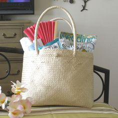 Beach Wedding Destination favors | ... Palm Leaf Shoulder Bag - Welcome Bags - Destination Wedding Favors